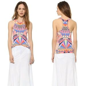 Mara Hoffman Colorful Pattern Racer Front Tank Top